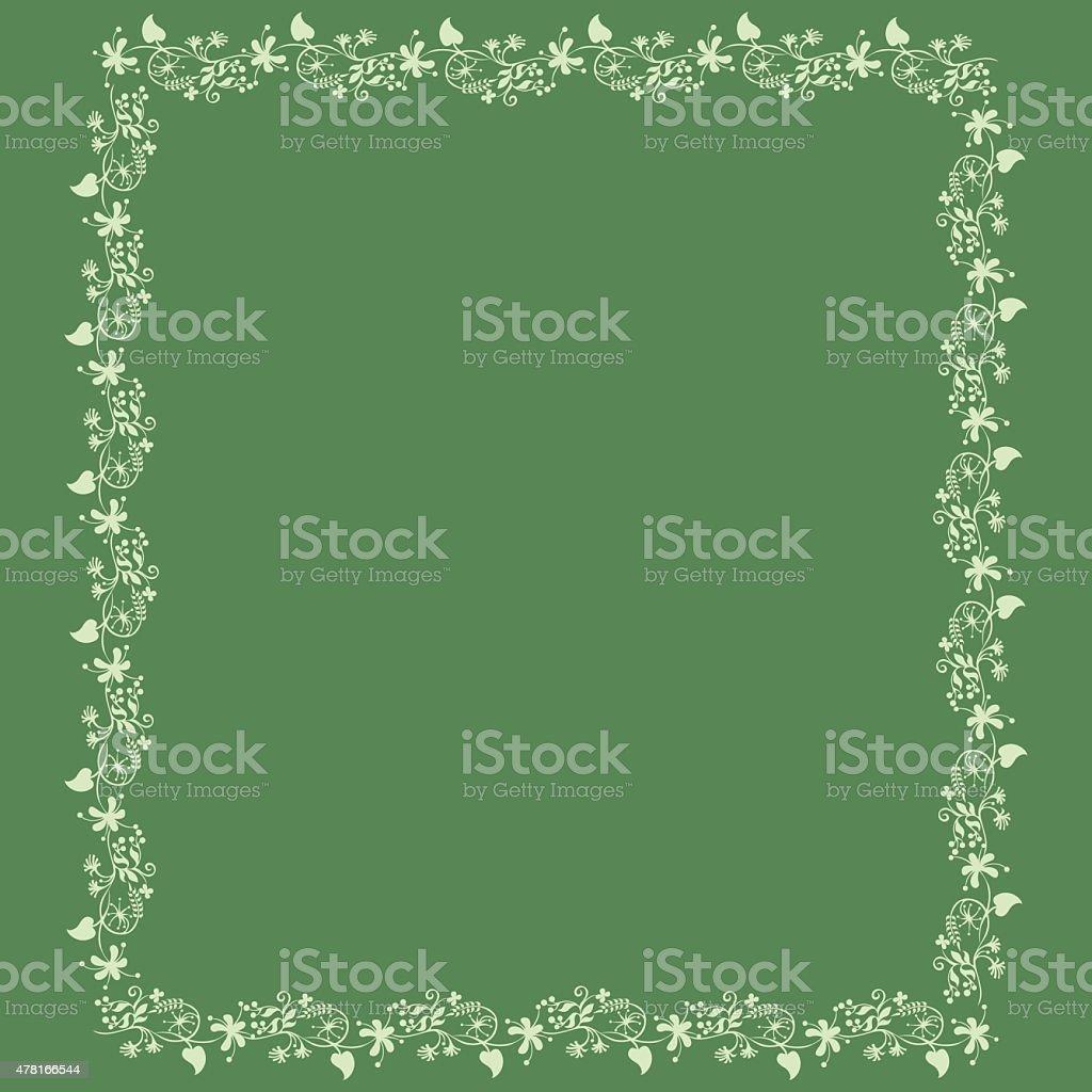 Cadre Floral fond d'été - Illustration vectorielle