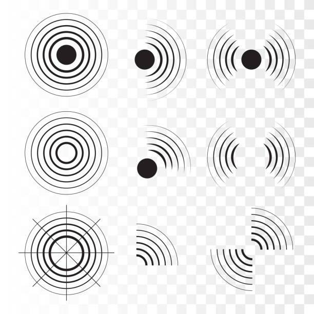 sonar wave sign. - radar stock illustrations