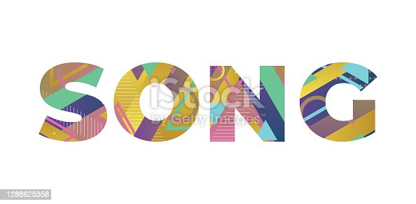 istock Song Concept Retro Colorful Word Art Illustration 1288625358