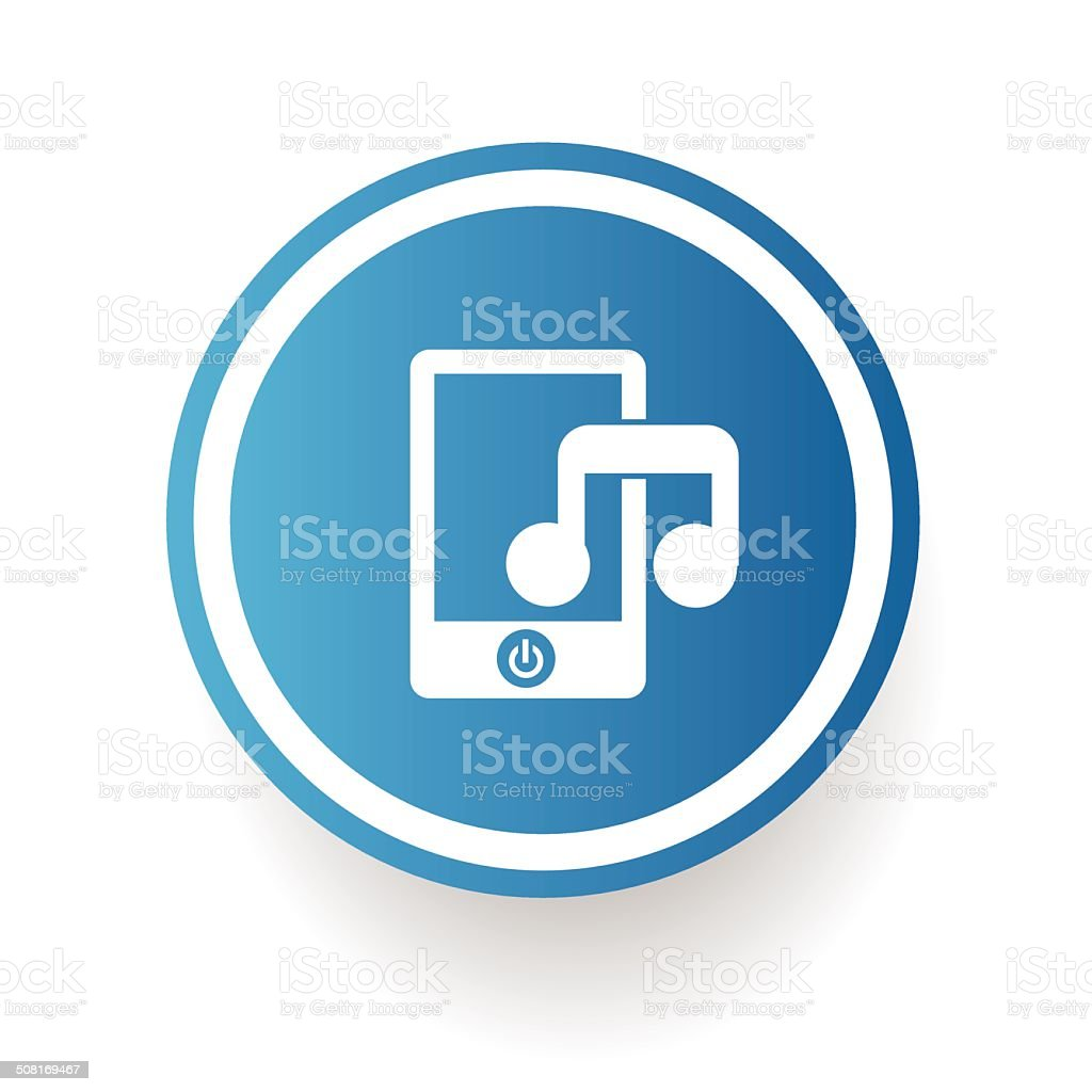 Song on mobile phone,vector