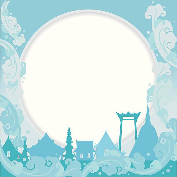 songkran festival background - songkran festival stock illustrations, clip art, cartoons, & icons