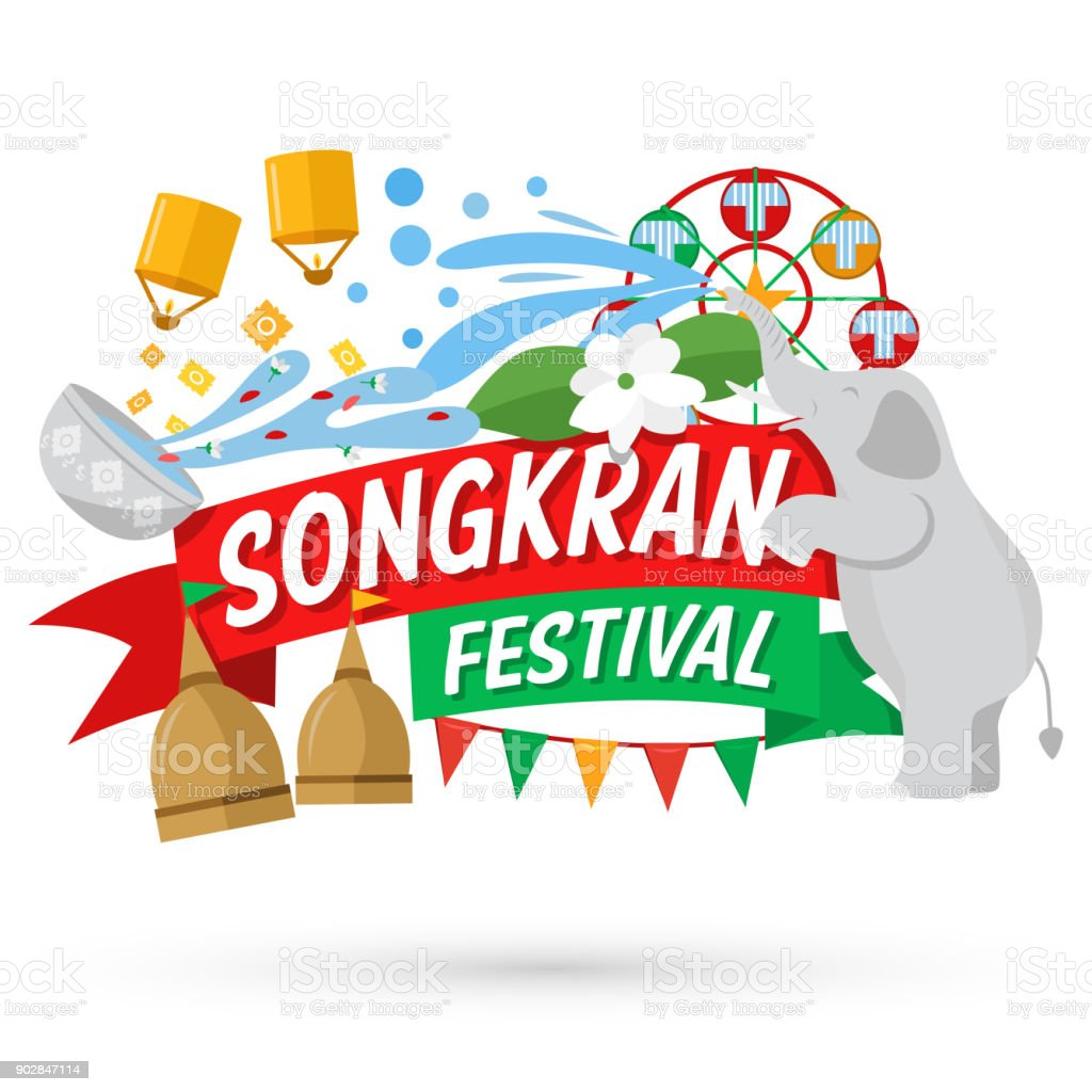 songkran festival banner thai new years day royalty free songkran festival banner thai new