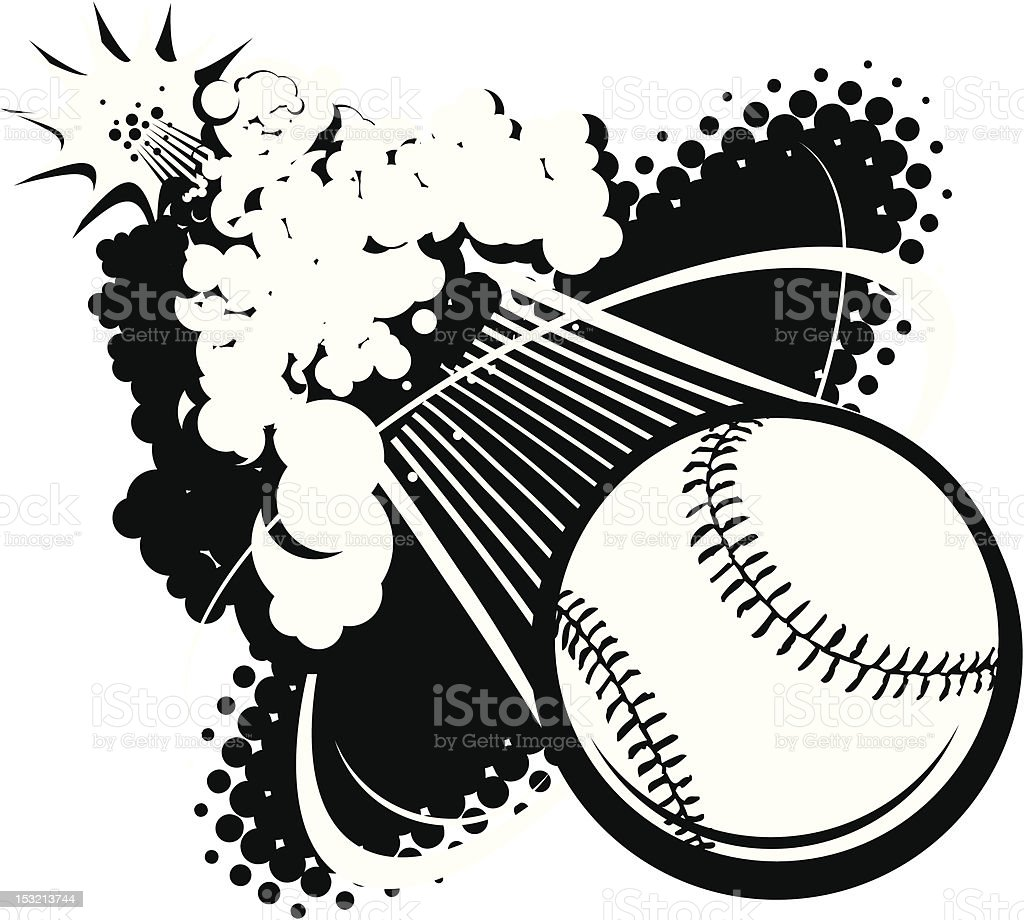 Sonic Boom Baseball vector art illustration