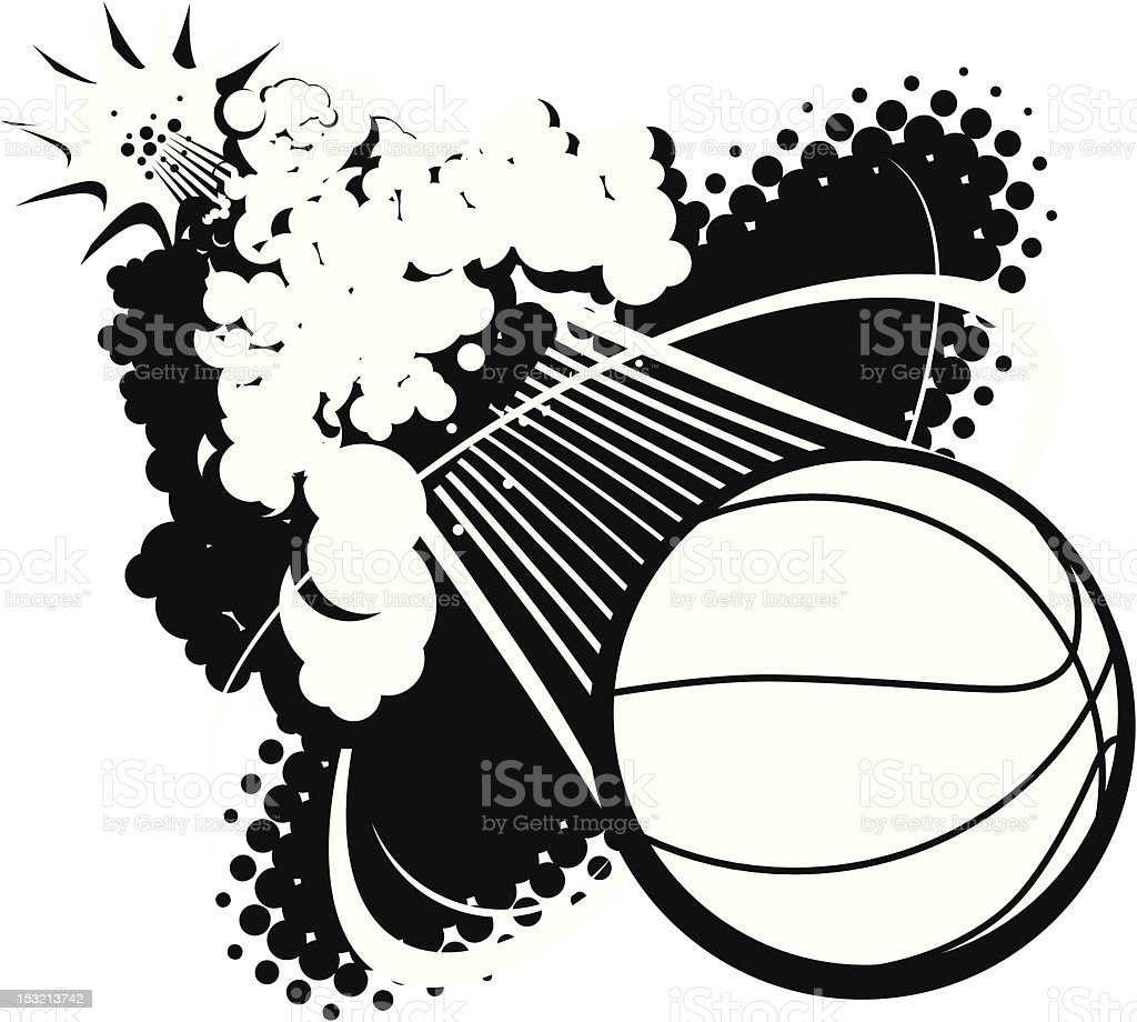Sonic Boom Basketball royalty-free stock vector art