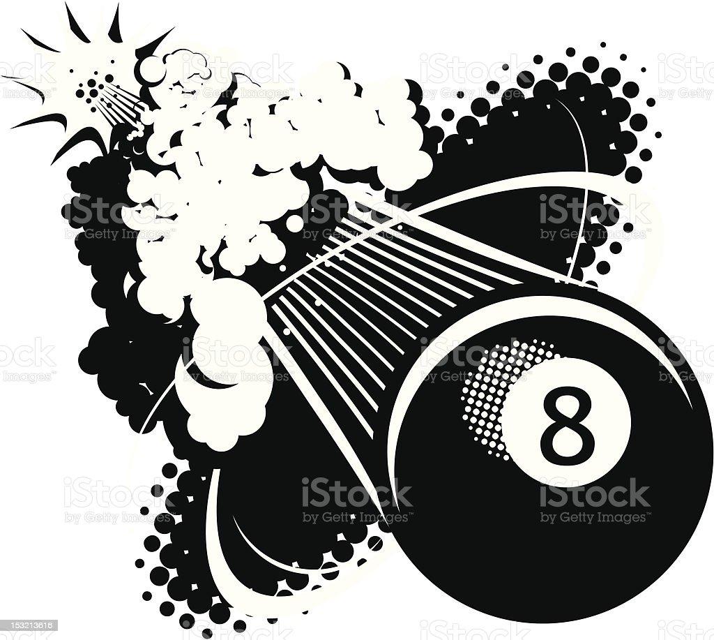 Sonic Boom Eight Ball vector art illustration