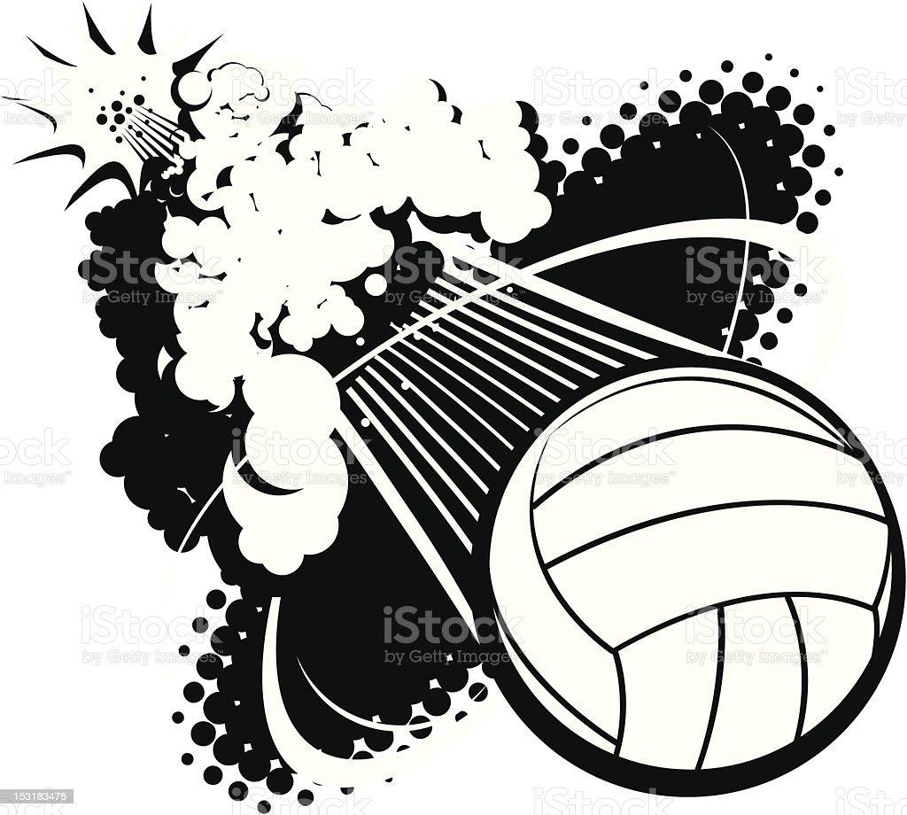 Sonic Boom Volleyball vector art illustration