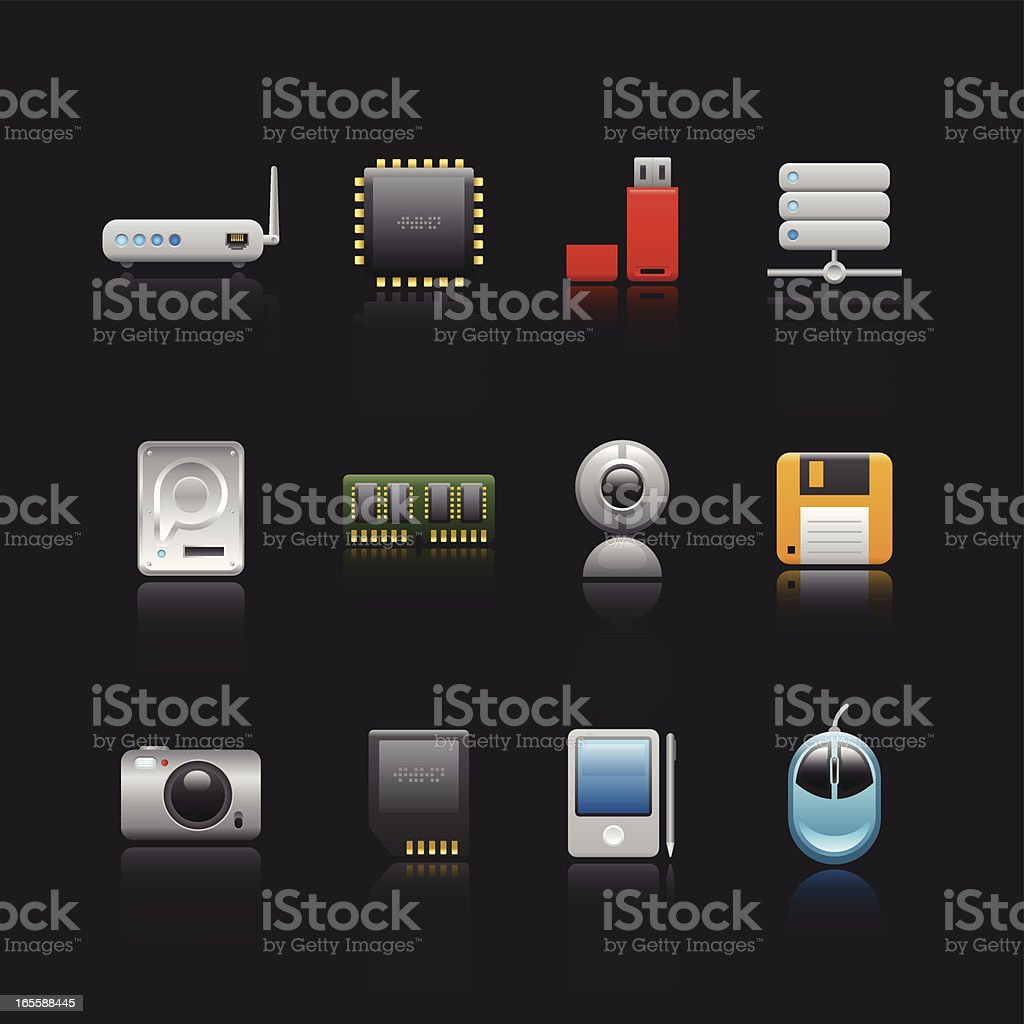 Soothe Series Icon - Computer Devices vector art illustration