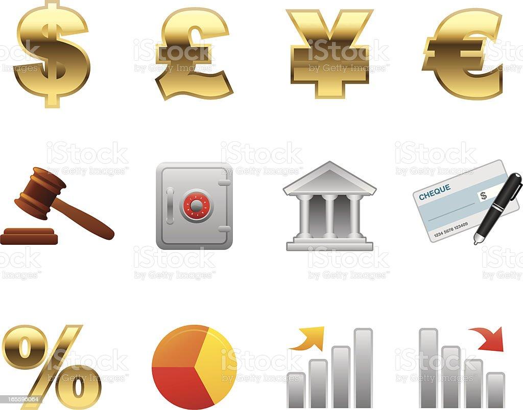 Reconforte serie iconos-Finanzas ilustración de reconforte serie iconosfinanzas y más banco de imágenes de actividades bancarias libre de derechos