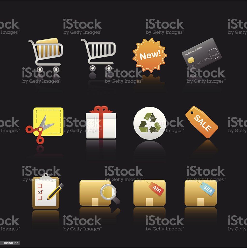 Soothe Series Icon - Shopping Shopping icon set. fully editable. ZIP contain hires jpg, AI 10 & AI CS2. Air Mail stock vector