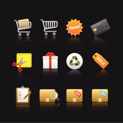 Soothe Series Icon Shopping Stock Illustration - Download Image Now