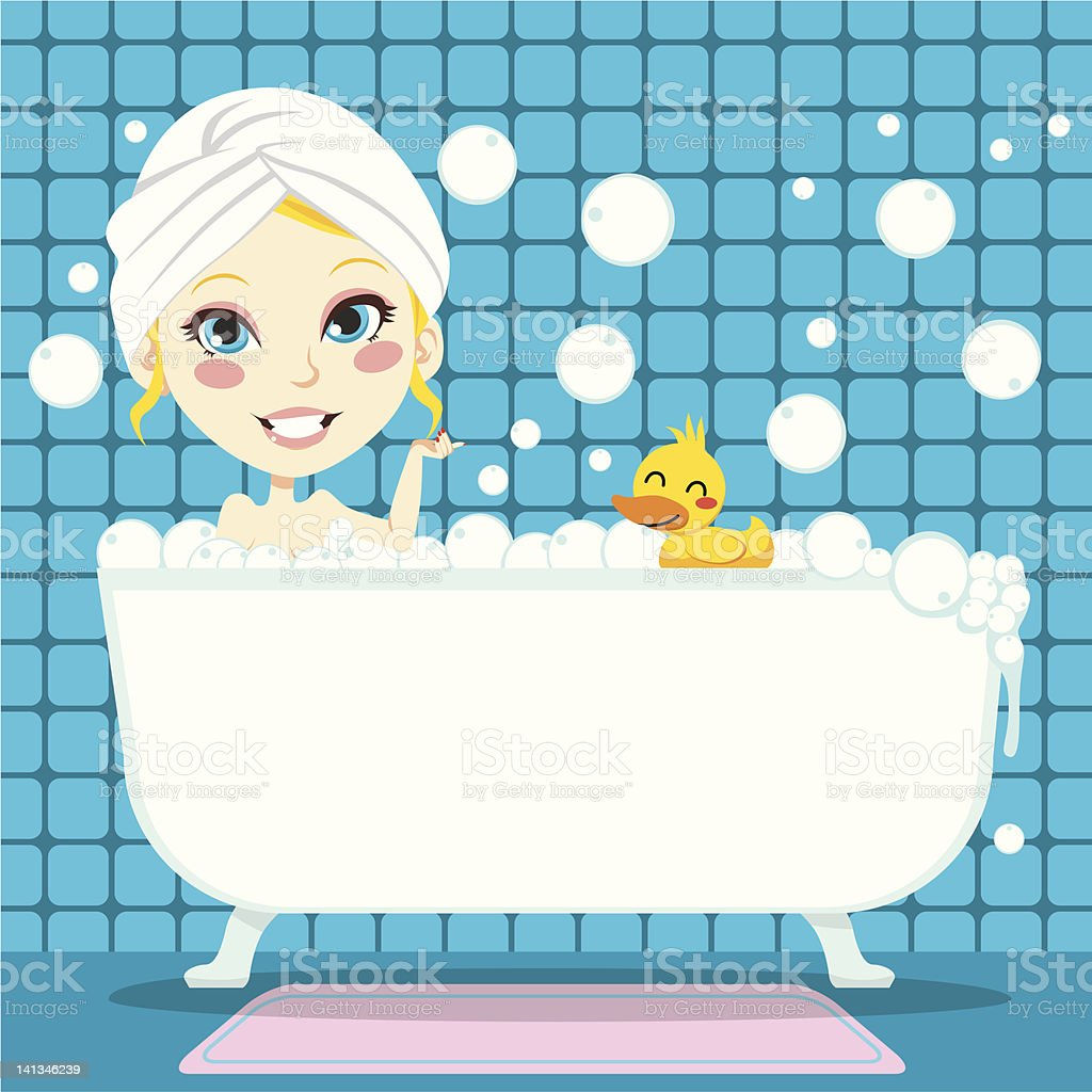 Soothing Bubble Bath royalty-free soothing bubble bath stock vector art & more images of adult