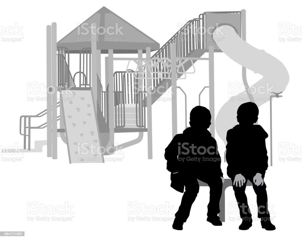 Sophisticated Boys vector art illustration