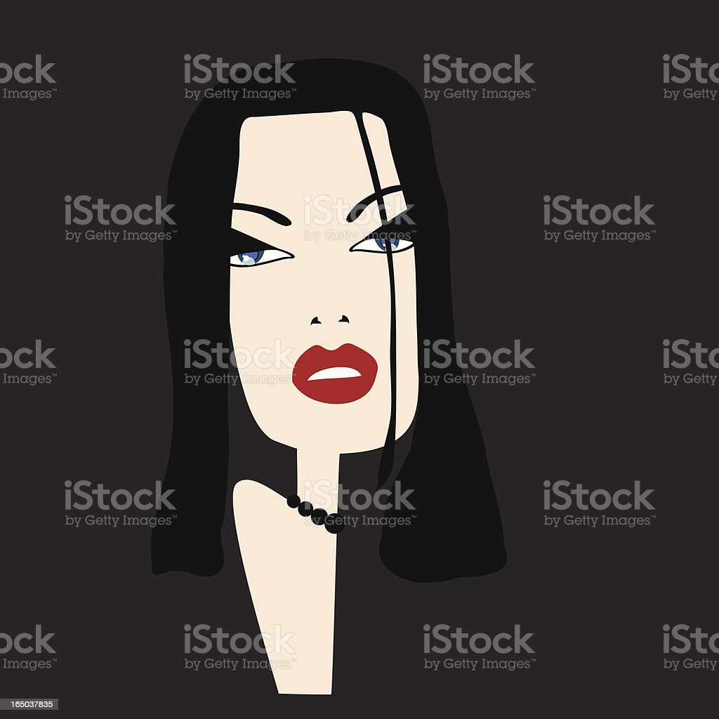 Sophisticated woman royalty-free stock vector art