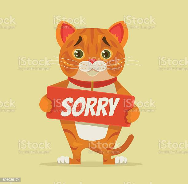 Sorry cat character hold apology plate vector id626039174?b=1&k=6&m=626039174&s=612x612&h=zajue12gfhxouerb d3 7gompkpeusnrlesp5w47dim=