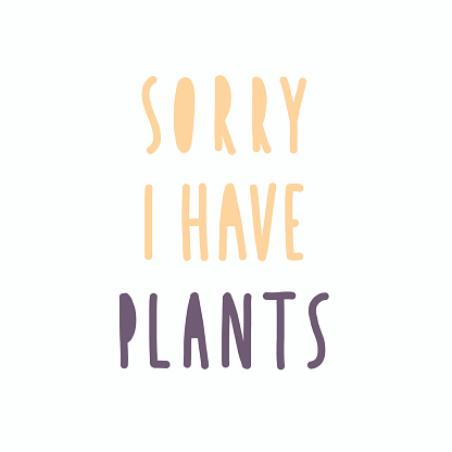 Sorry, i have plants