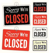 istock Sorry We're Closed Signs 166053867
