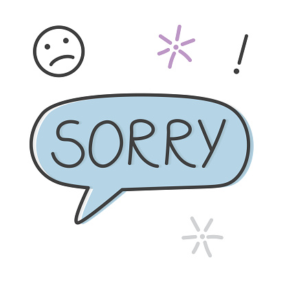 sorry word concept - vector illustration