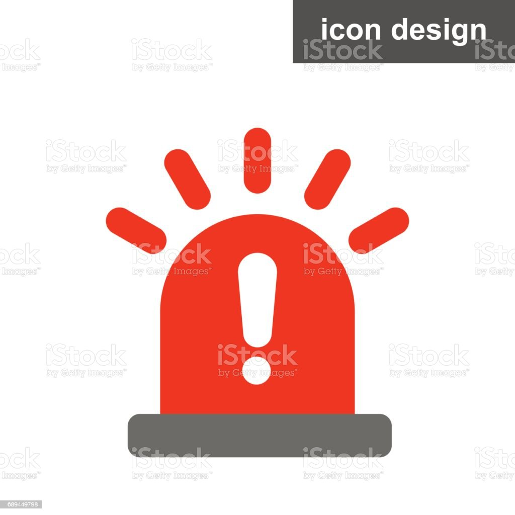 Sos notification warning vector art illustration