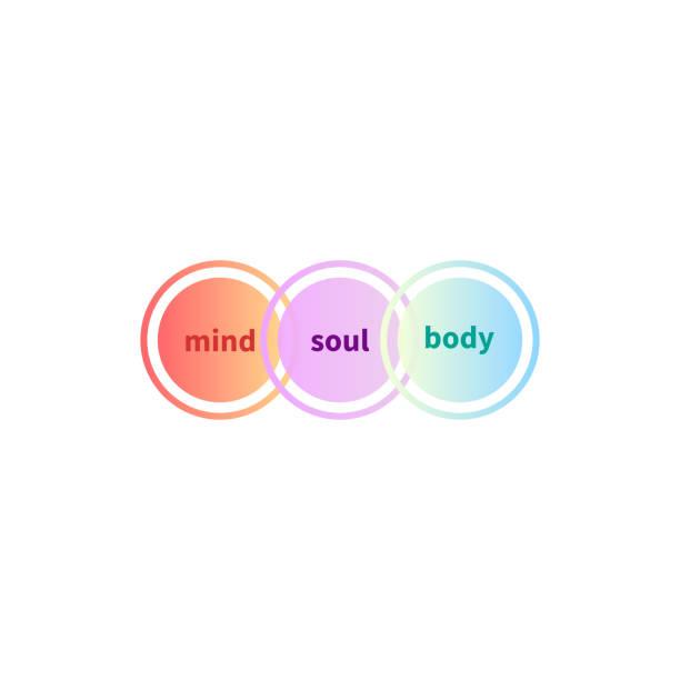 soul and body balance - духовность stock illustrations