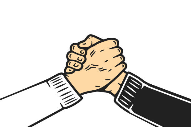 ilustraciones, imágenes clip art, dibujos animados e iconos de stock de apretón de manos de alma hermano, apretón de manos de pulgar cierre o saludo homie, estilo de dibujos animados sobre fondo blanco aislada - hermano