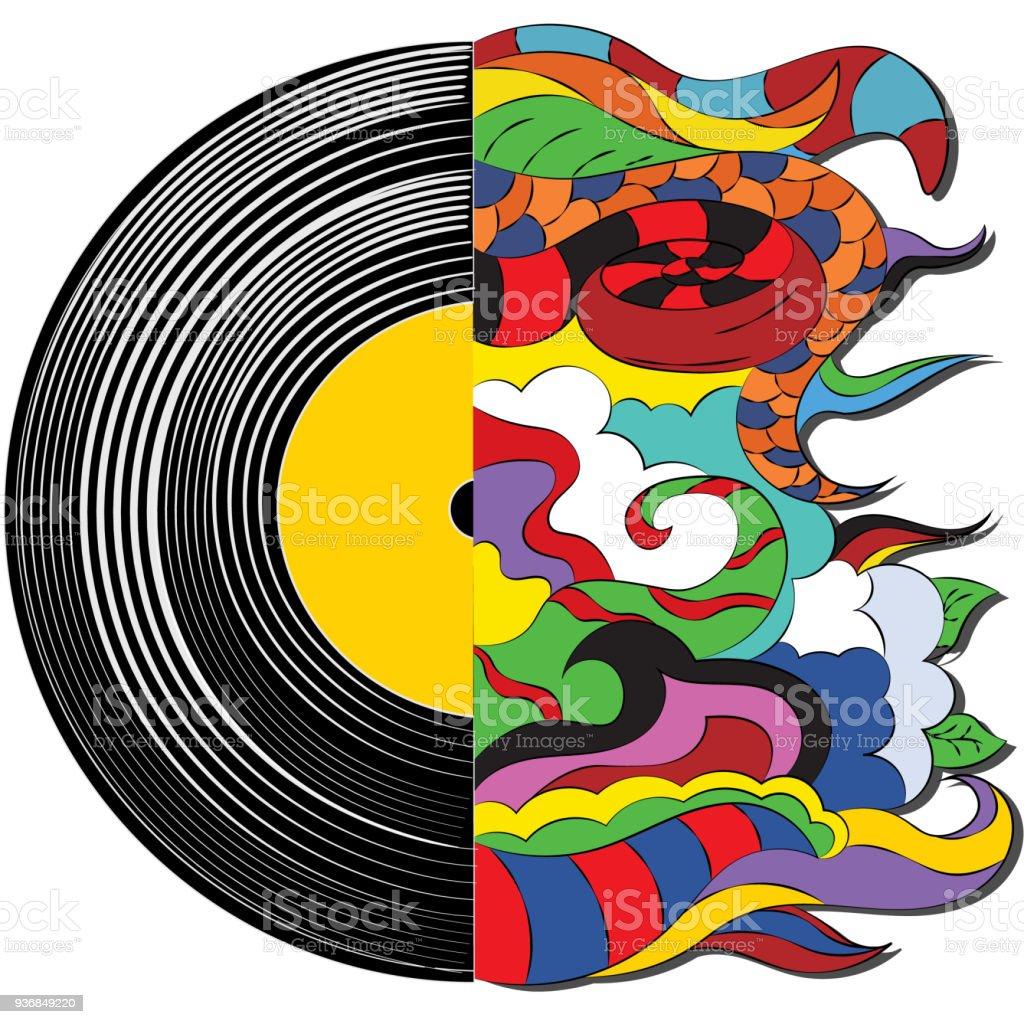 Ilustración de Alma En La Música La Fantasía Abstracta Disco De ...
