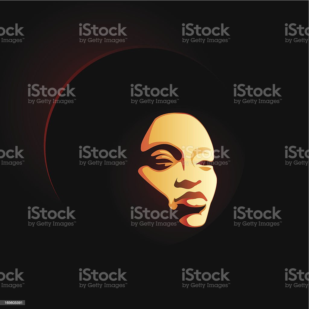 soul lady afro vector art illustration