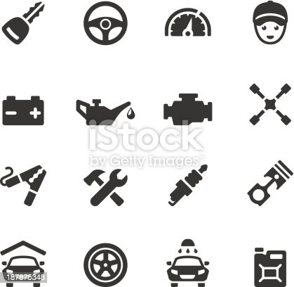 Soulico collection - Car Repair Shop icons.