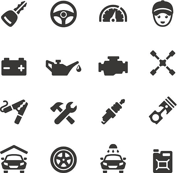 Soulico - Car Soulico collection - Car Repair Shop icons. car key stock illustrations