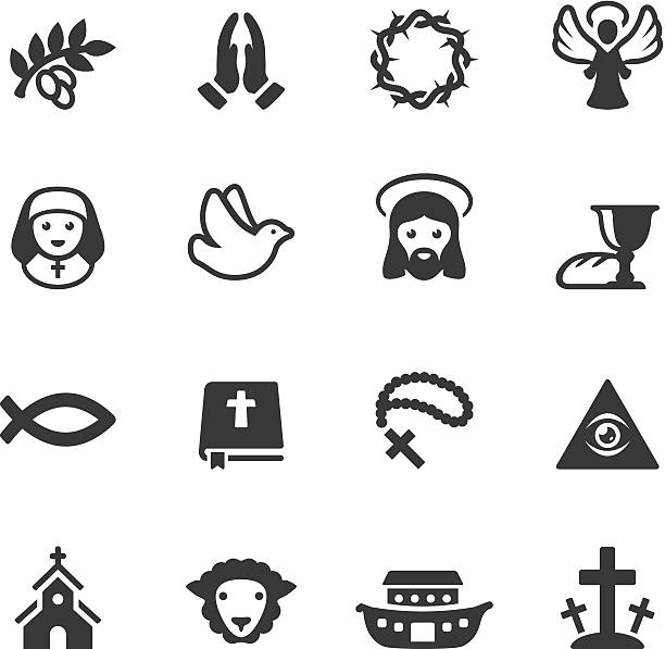 soulico - christianity icons - communion stock illustrations, clip art, cartoons, & icons