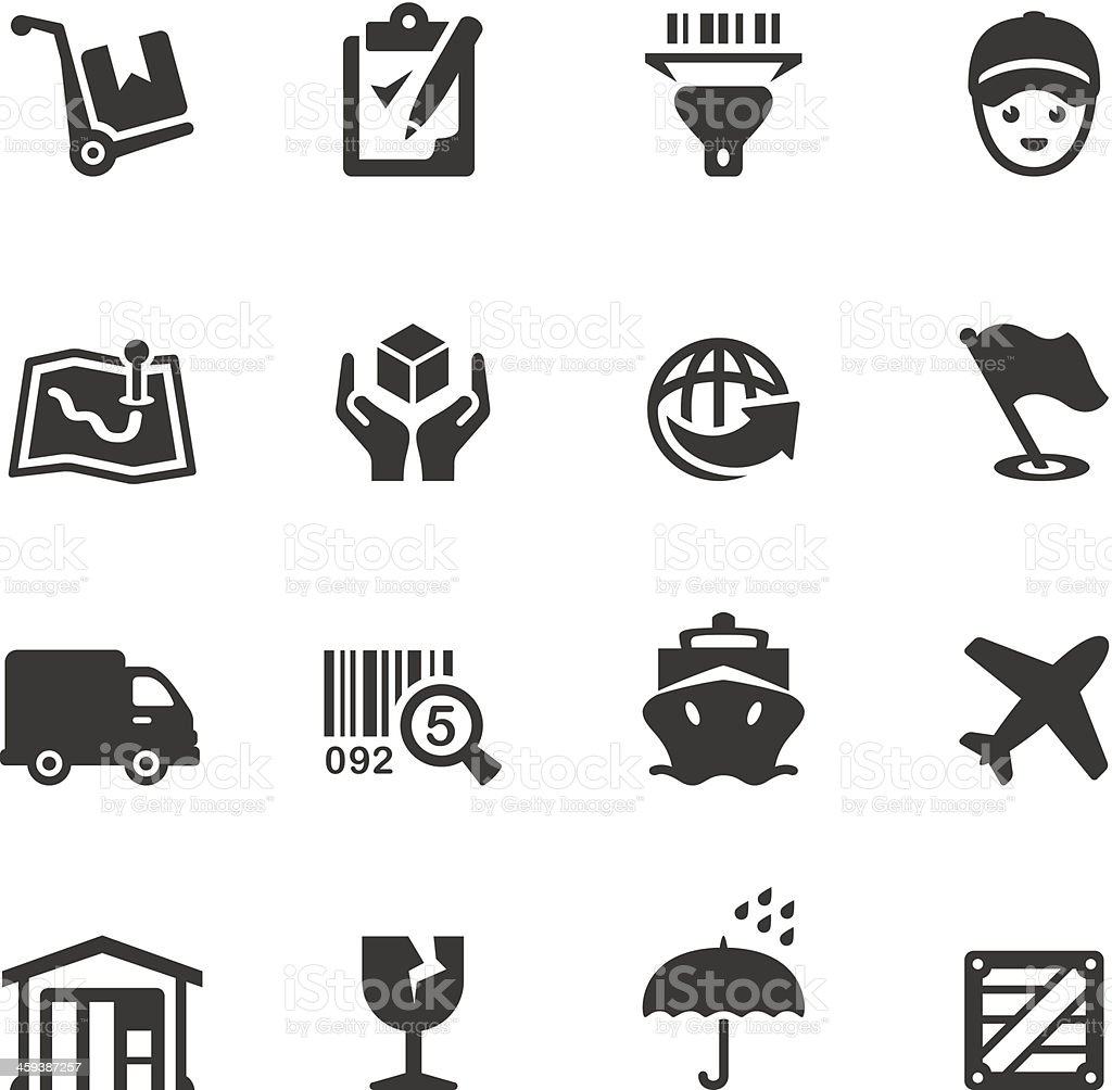 Soulico - Delivering icons vector art illustration