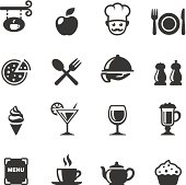 Soulico collection - Restaurant and Food services vector icons.