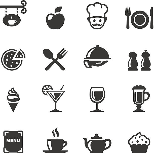 Soulico - Dining Soulico collection - Restaurant and Food services vector icons. cafe stock illustrations