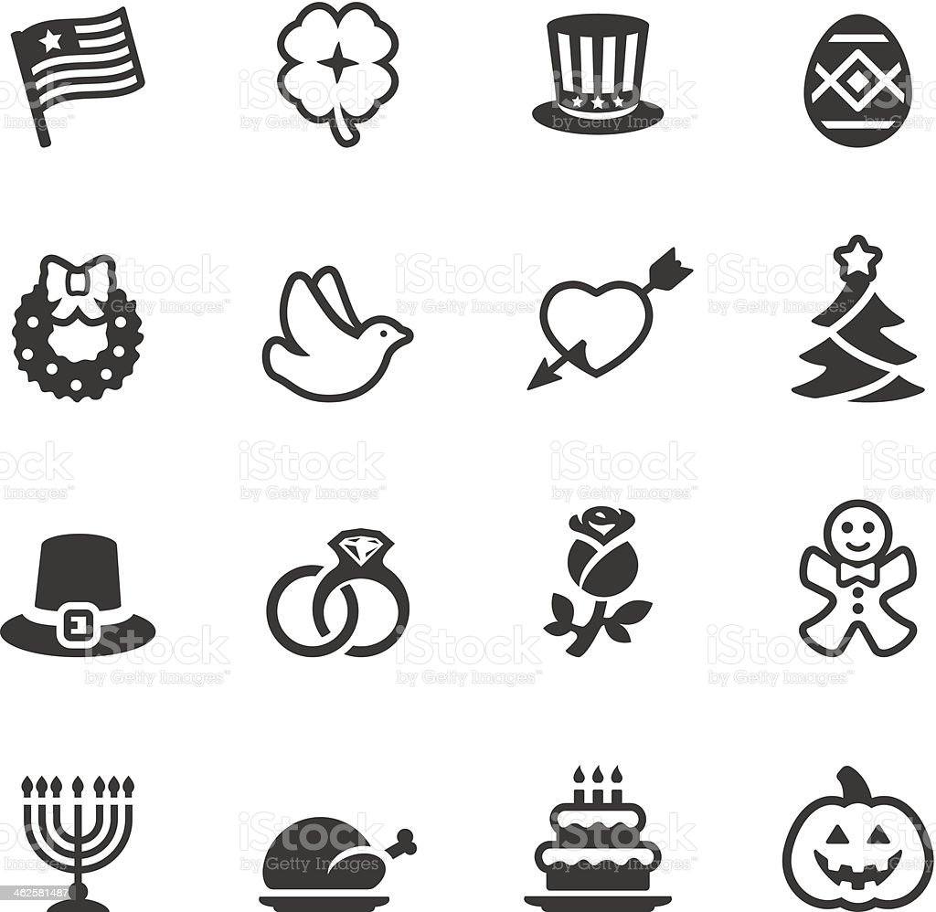 Soulico - Holidays and celebrations icons vector art illustration