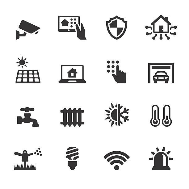 ilustrações de stock, clip art, desenhos animados e ícones de soulico casa ícones-automatizado - solar panel