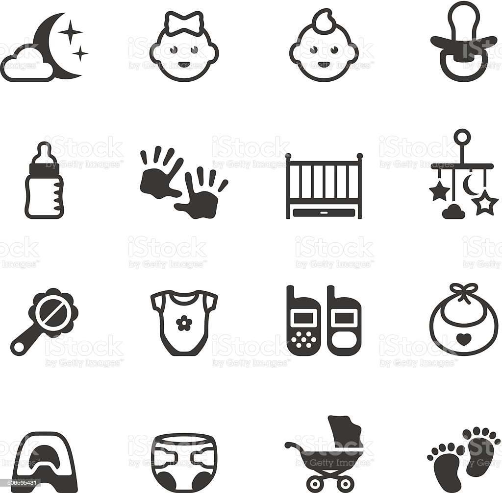 Soulico icons - Baby vector art illustration