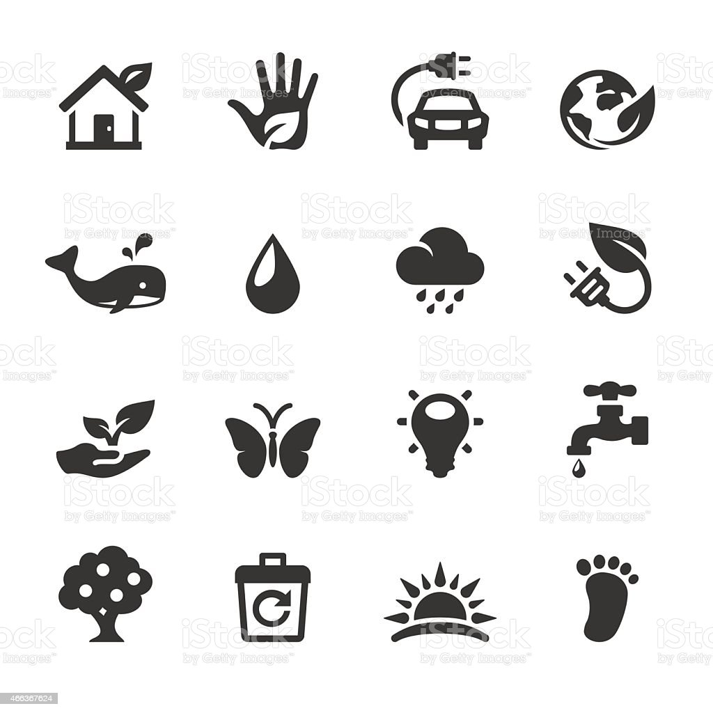 Soulico icons - Green Planet vector art illustration