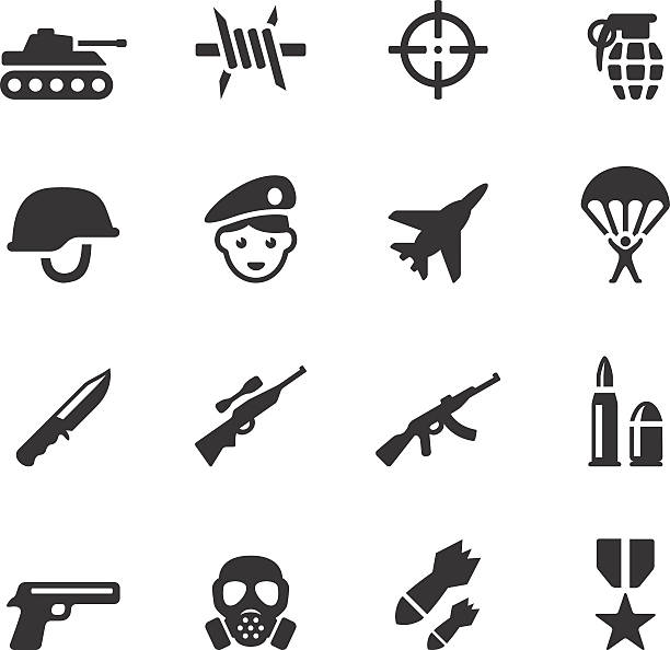 Soulico icons - Military Soulico collection - Military icons. air force stock illustrations