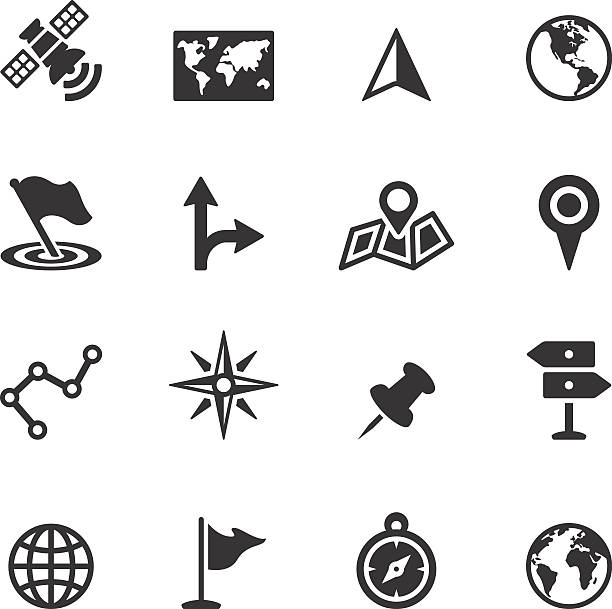 soulico icons - navigation and map - fiziki coğrafya stock illustrations