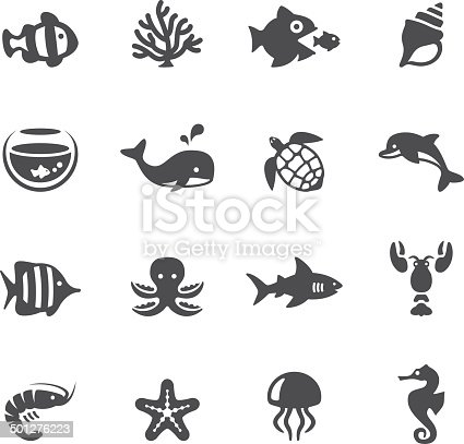 Soulico collection - Sea Life icons.
