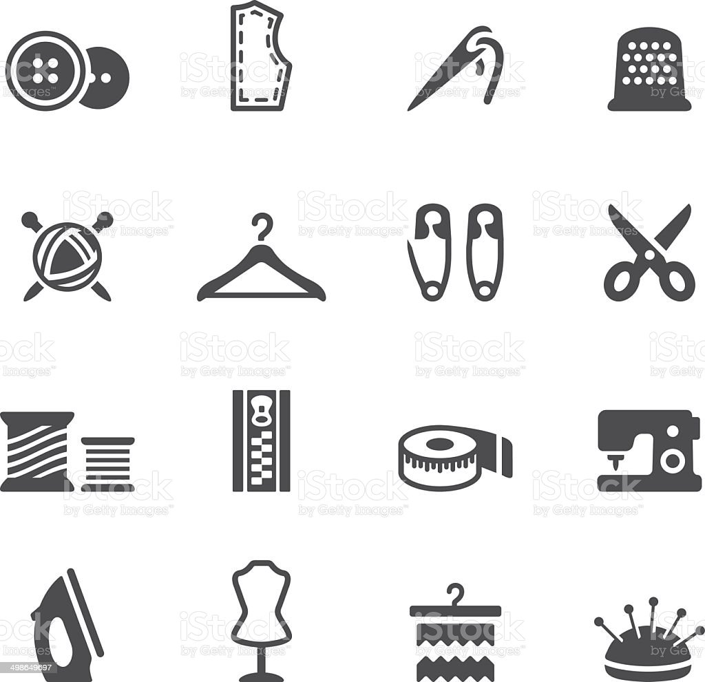 Soulico icons - Sewing vector art illustration