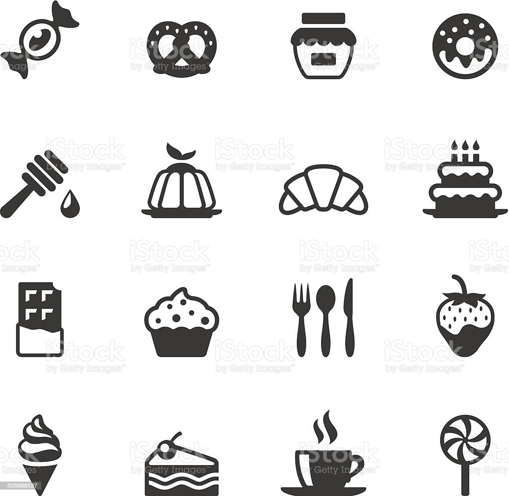 Soulico icons - Sweet Food vector art illustration