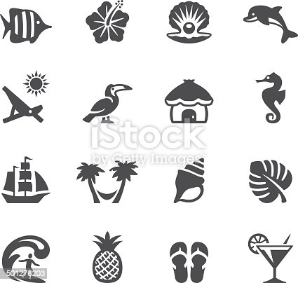 Soulico collection - Tropical Vacations icons.