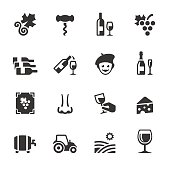 Soulico collection - Vineyard and Wine related icons.