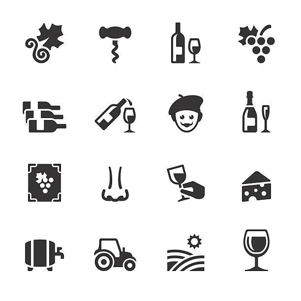 bildbanksillustrationer, clip art samt tecknat material och ikoner med soulico icons - vineyard and wine - vitt vin glas