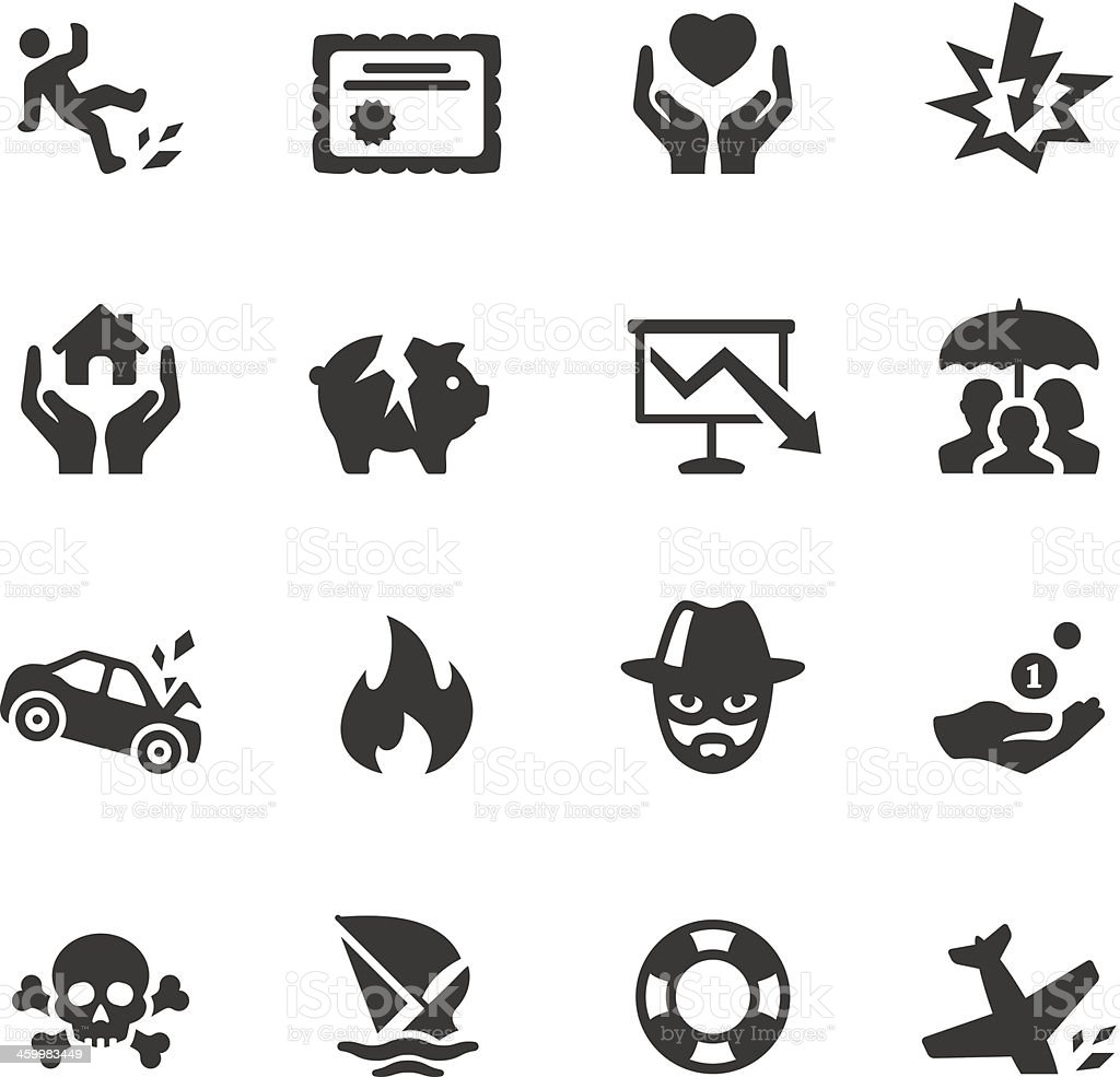 Soulico - Insurance icons vector art illustration