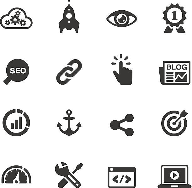 Soulico - Internet Marketing vector icons Soulico collection - Internet Marketing icons. hyperlink stock illustrations