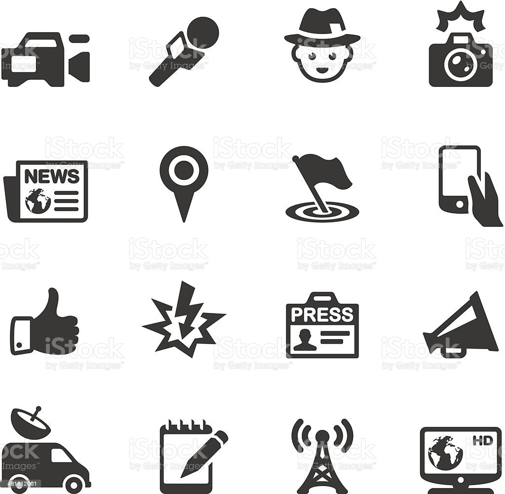 Soulico - News icons vector art illustration