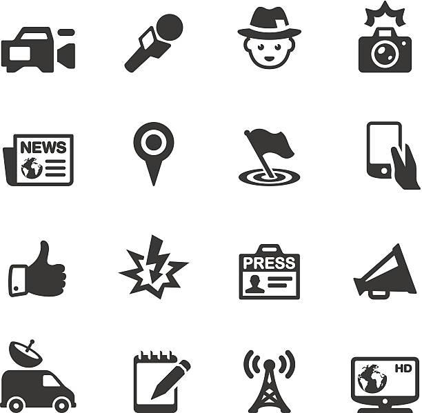 illustrations, cliparts, dessins animés et icônes de icônes soulico-actualités - interview