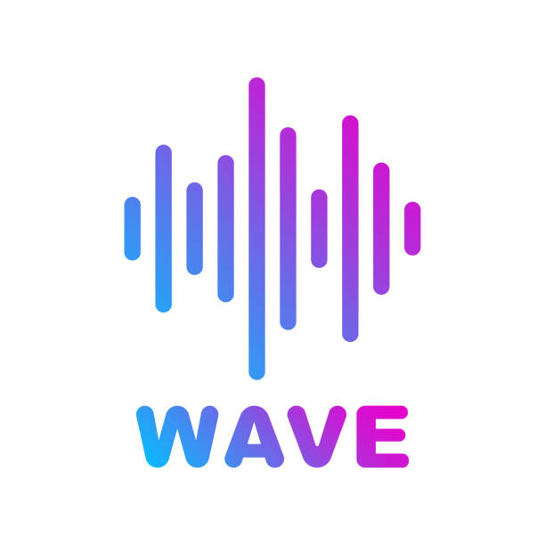 Sound and Audio Waves. Logotype of music and audio theme. EPS 10 vector art illustration
