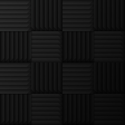 Sound dampening foam wall seamless tileable pattern abstract background.
